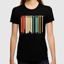 Retro 1970's Style Jersey City New Jersey Skyline T-shirt
