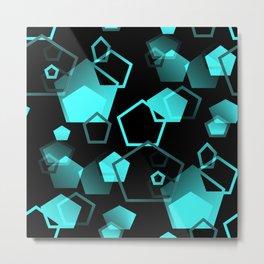 pentagon pattern - seamless Metal Print
