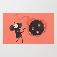 katamari Area & Throw Rugs featuring Katamari of the Dead by Hector Mansilla