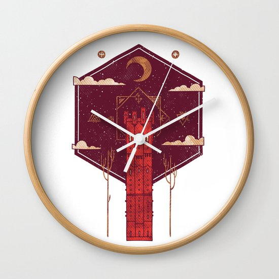 The Crimson Tower Wall Clock