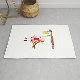 little girl swinging Rug
