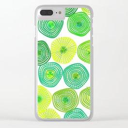 Lemon-Lime Lift Clear iPhone Case