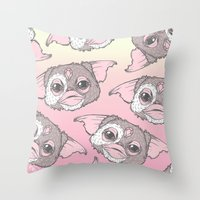 gizmo Throw Pillows featuring Gizmo by lOll3