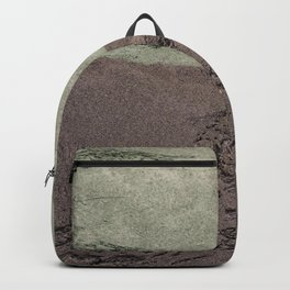 Sea Green Waves on Concrete Backpack