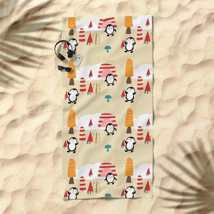 Oriana Penguin Beach Towel