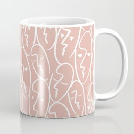 faces / pink Coffee Mug