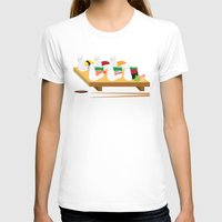 alpaca T-shirts featuring Alpaca Sushi by Inappropriately Adorable