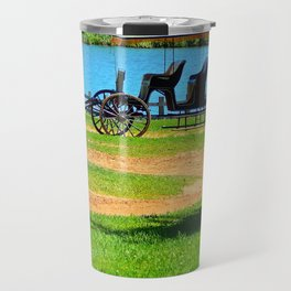 Antique 3 seat Carriage Travel Mug