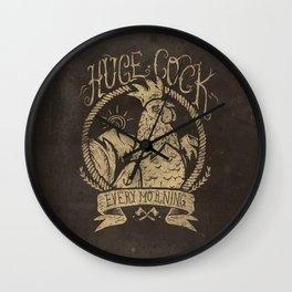 Huge Cock Wall Clock