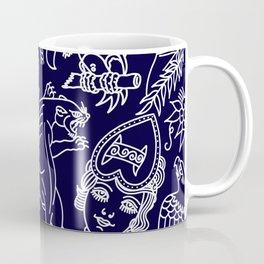 Traditional tattoo blue print Coffee Mug