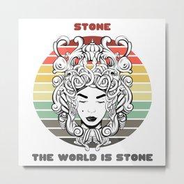 Sunset Gorgon / Stone, The World Is Stone Metal Print