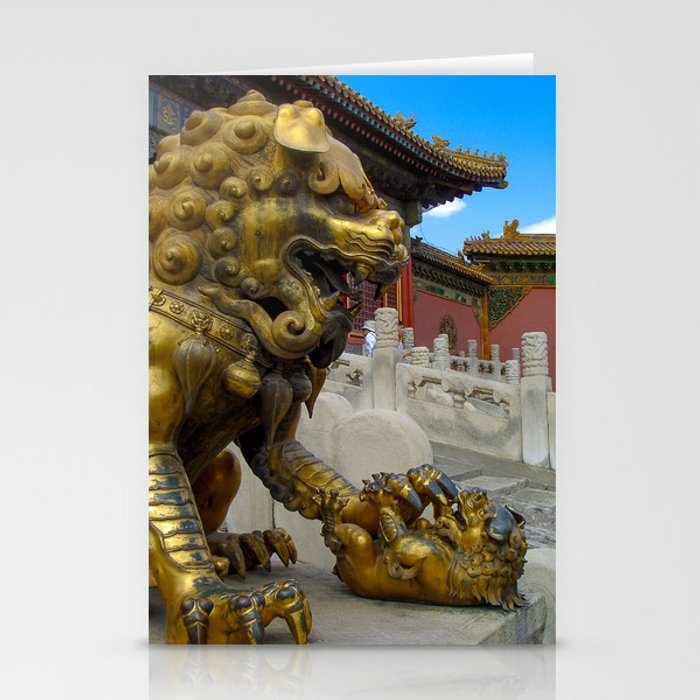 Mother Lion. Beijing Forbidden Palace. Stationery Cards
