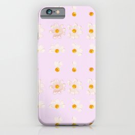 Baby Pink Daisies | Shabby Chic Golden Flower Pattern iPhone Case