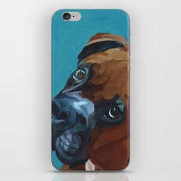 Leo the Boxer Dog Portrait iPhone Skin
