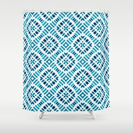 Shibori Watercolour no.7 Turquoise Shower Curtain