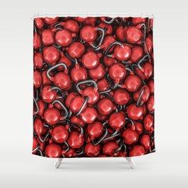 Kettlebells RED Shower Curtain