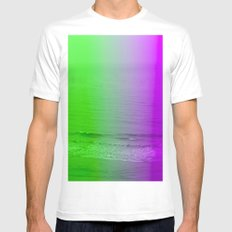 green + purple Mens Fitted Tee White MEDIUM