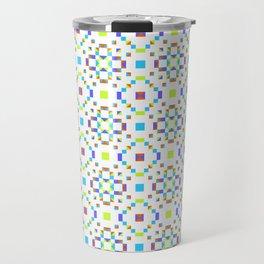 Geometric Pattern Vibes in Green Travel Mug