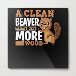 Beaver ambiguity Metal Print