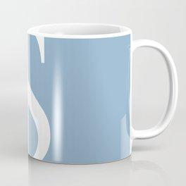 dollar sign on placid blue color background Coffee Mug