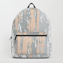 Grey brown Colors Gradient pattern.  light-grey, modern, decor, Society6 Backpack