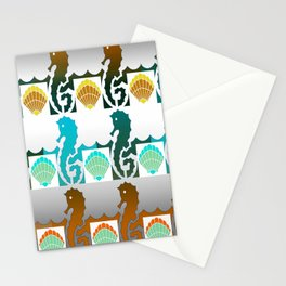 Seahorses & Shells 3 Stationery Cards