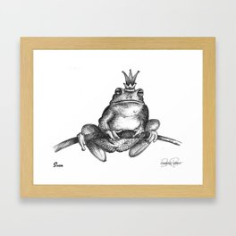 SVEN Frog Prince Print Framed Art Print