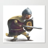 knight Canvas Prints featuring Knight by Creative Safari