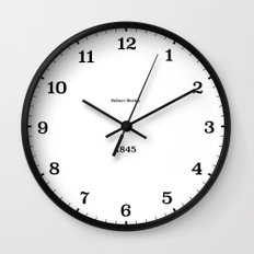 Type/Face 05 Wall Clock