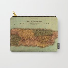 Map Of Puerto Rico 1886 Carry-All Pouch
