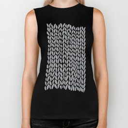 Hand Knit Zoom Grey Biker Tank