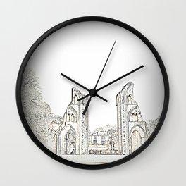 Glastonbury Abbey Wall Clock