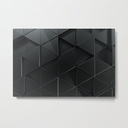 Pattern of black triangle prisms Metal Print