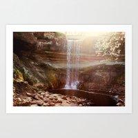 Enchanted Falls Art Print