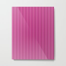 Pink stripes pattern Metal Print