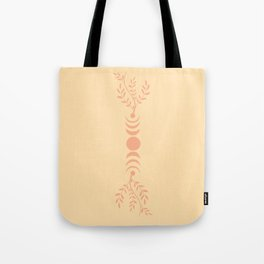Moon phases in garden Tote Bag