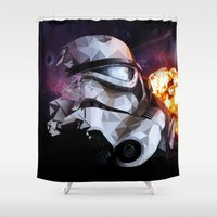 stormtrooper Shower Curtains featuring Stormtrooper by Ruveyda & Emre
