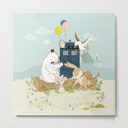Doctor Bear and his Companions Metal Print