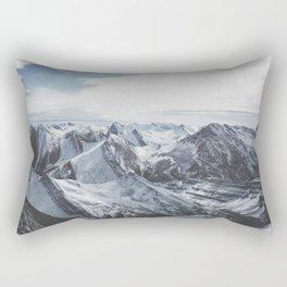 Snowy Mountains of Alberta Rectangular Pillow