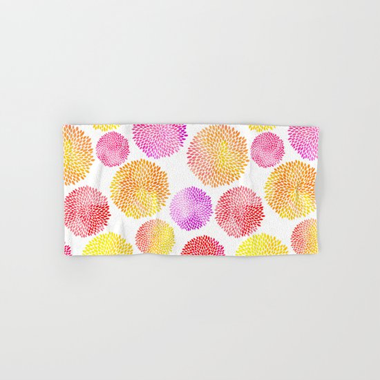 Yellow Red Purple Fireworks Hand & Bath Towel