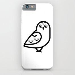 White Owl Icon iPhone Case