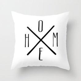 HOME Farmhouse Style Black+White Minimal Throw Pillow