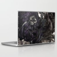 goth Laptop & iPad Skins featuring goth peony by inourgardentoo