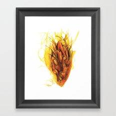 Bleeding Giraffe Heart Framed Art Print