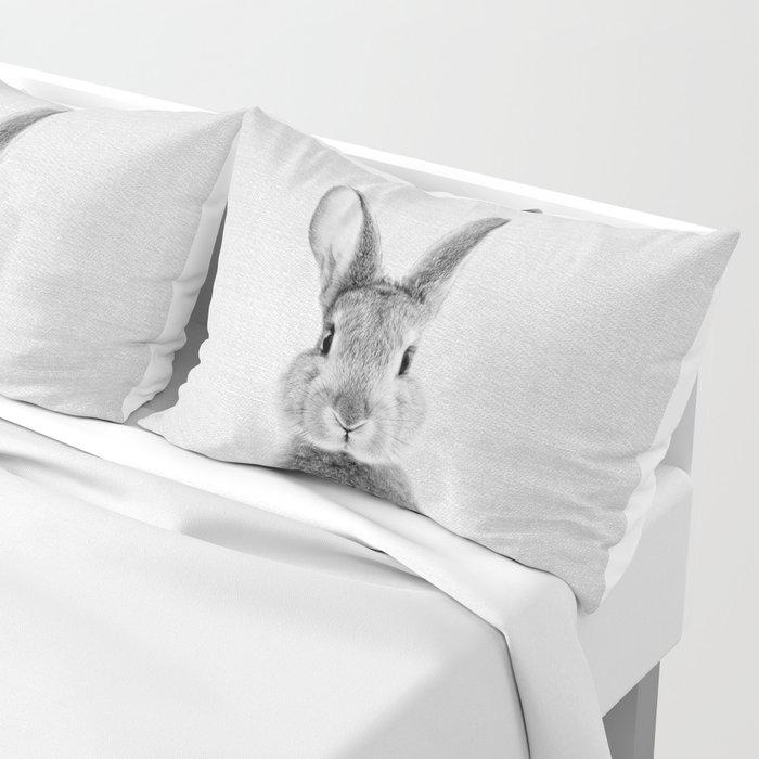 Rabbit - Black & White Kissenbezug