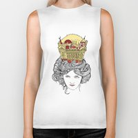 montreal Biker Tanks featuring The Queen of Montreal by Jesse Robinson Williams