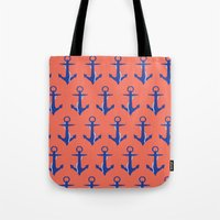 anchors Tote Bags featuring Anchors by Maria Tanygina