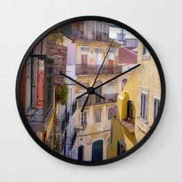 August in Lisbon Wall Clock