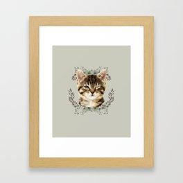 Cat Wink Framed Art Print