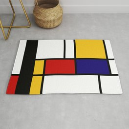 Prints, Mid Century Modern Wall Art, Large Abstract Geometric Wall Art, Mondrian Style Art, Minimali Rug